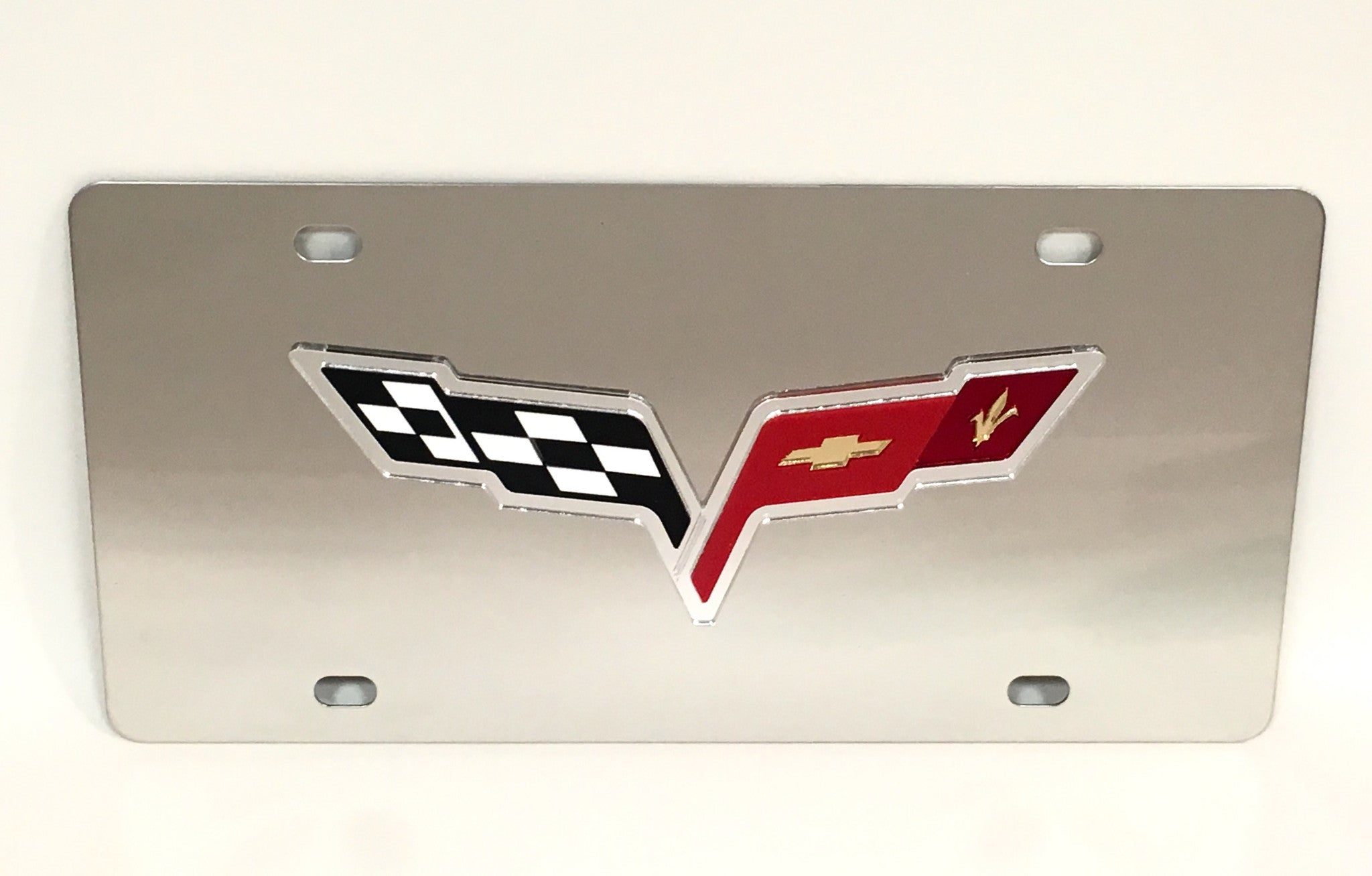 Chevy Corvette C7 Stainless Steel License Plate
