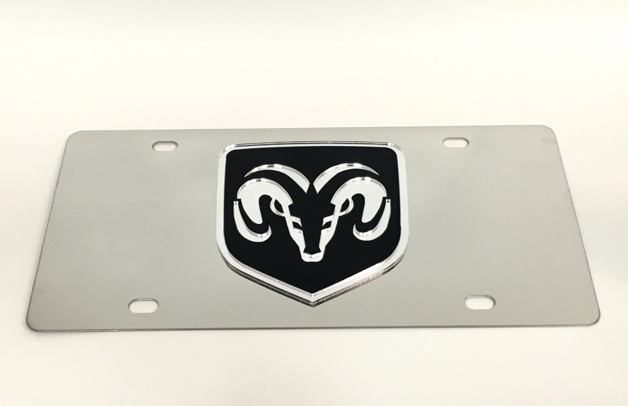 Dodge Ram Logo Stainless Steel License Plate