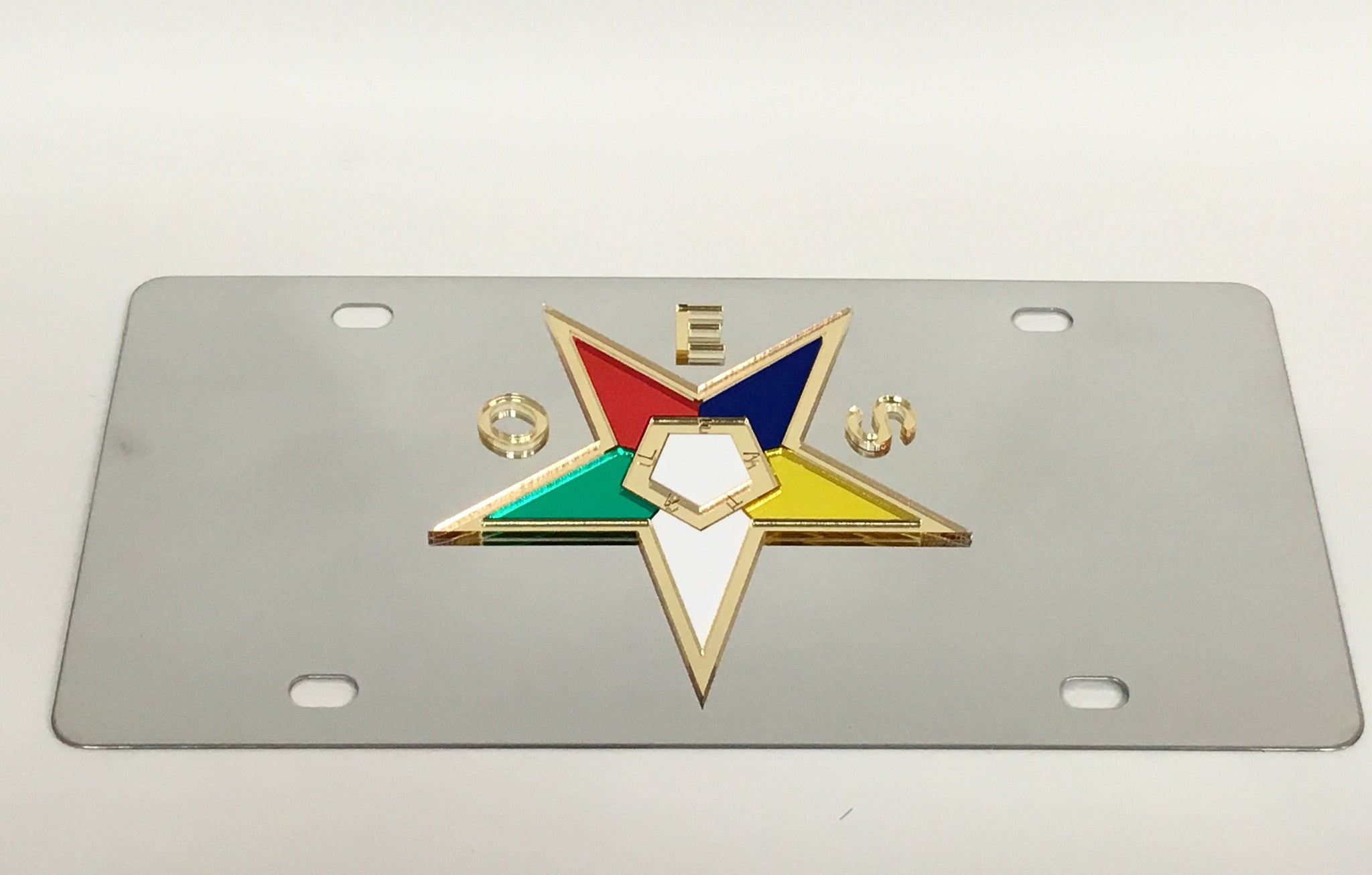 Eastern Star Stainless Steel License Plate