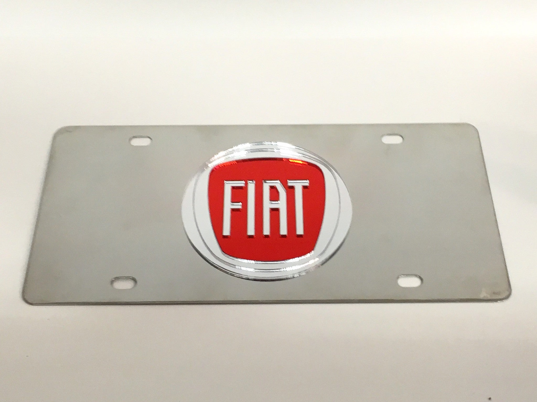 Fiat Logo Stainless Steel License Plate