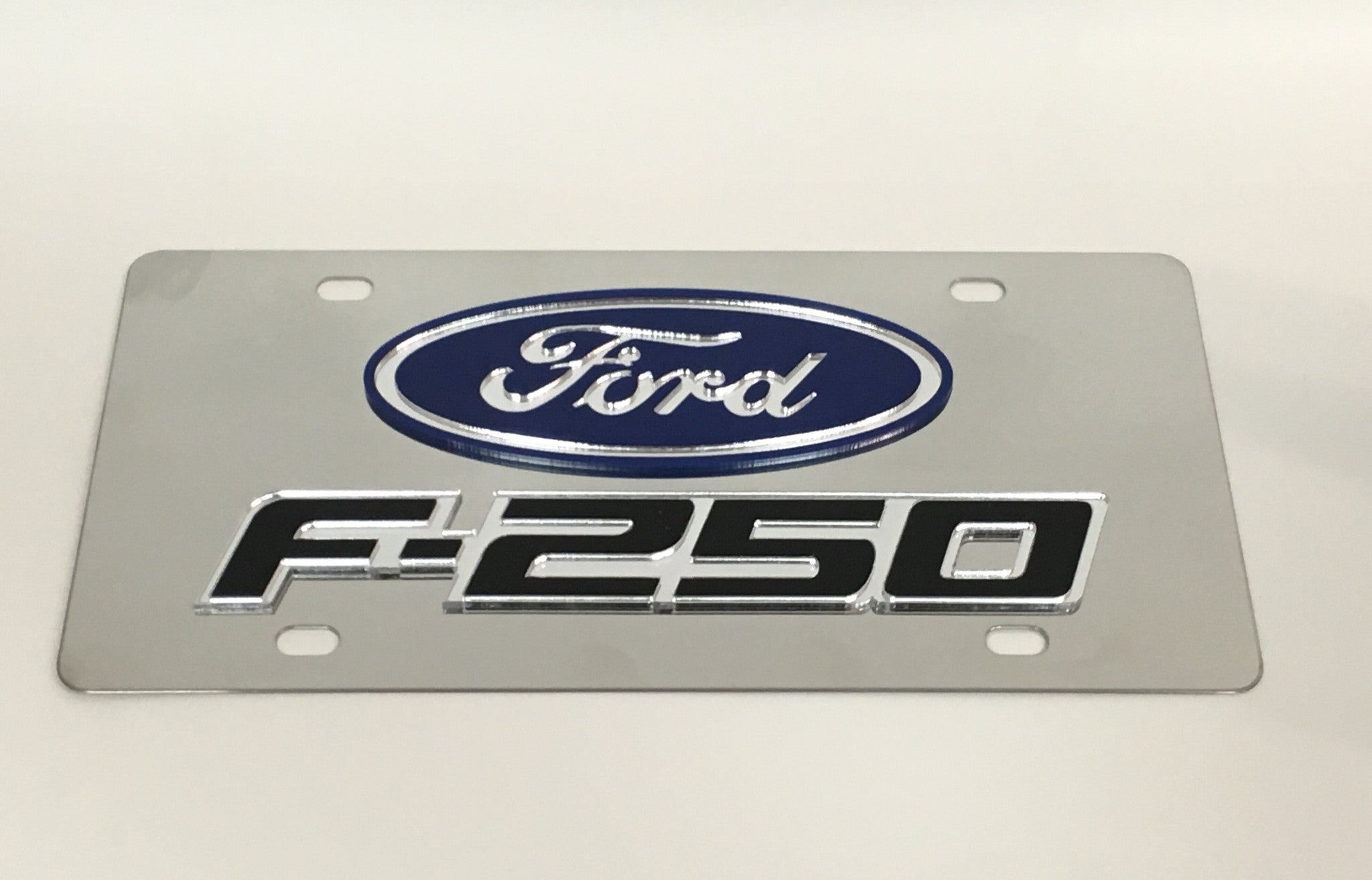 Ford F-250 Stainless Steel License Plate