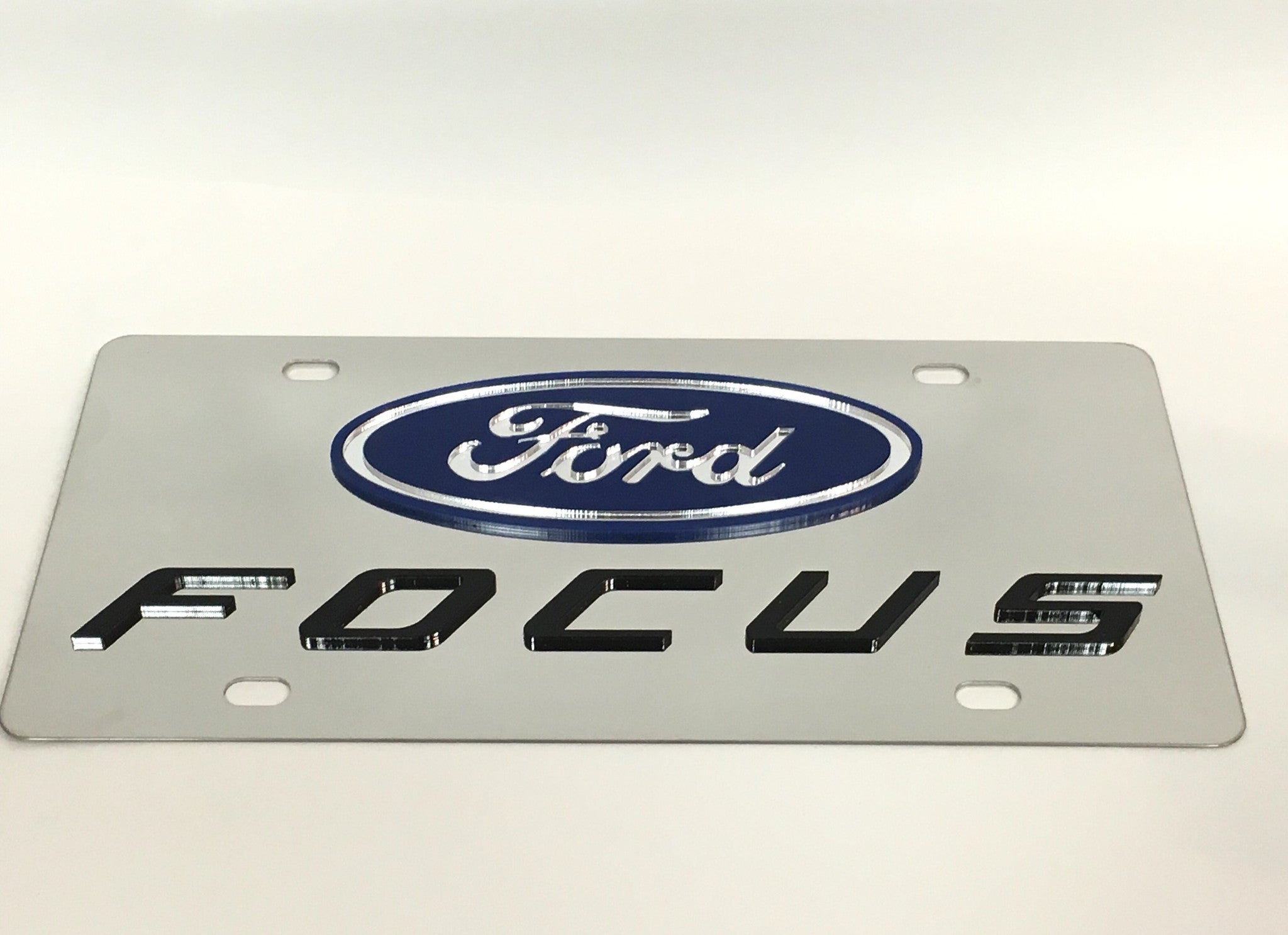 Ford Focus Stainless Steel License Plate