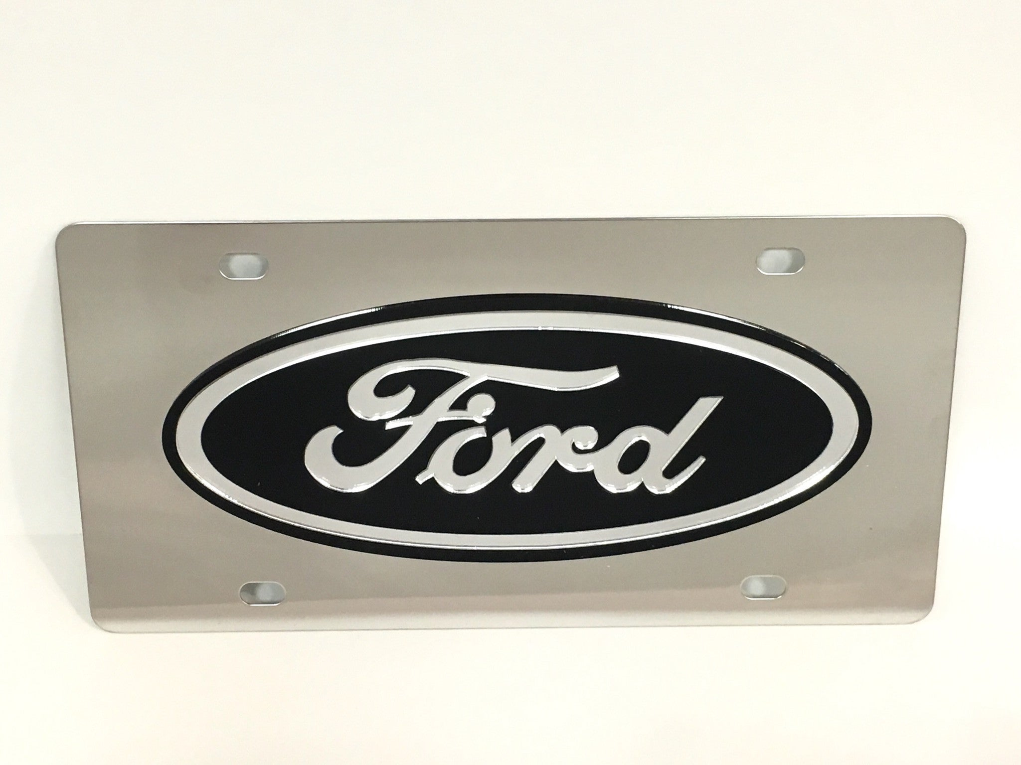 Ford Logo Stainless Steel License Plate