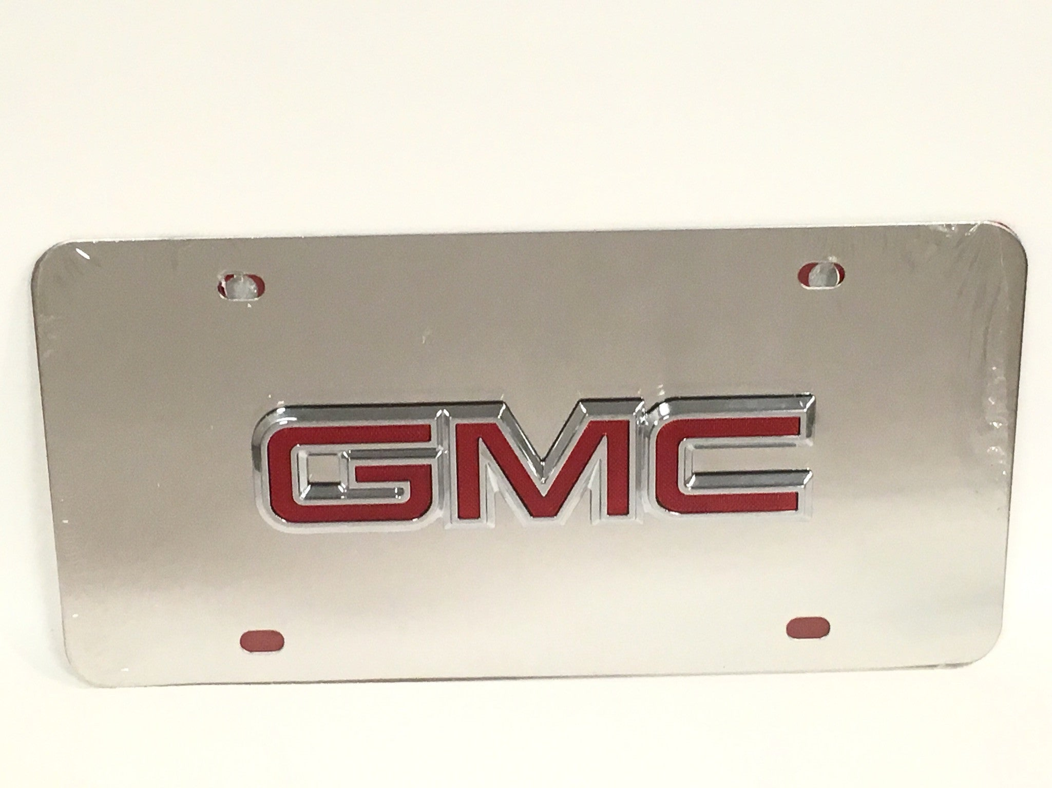 GMC Official Emblem Stainless Steel License Plate