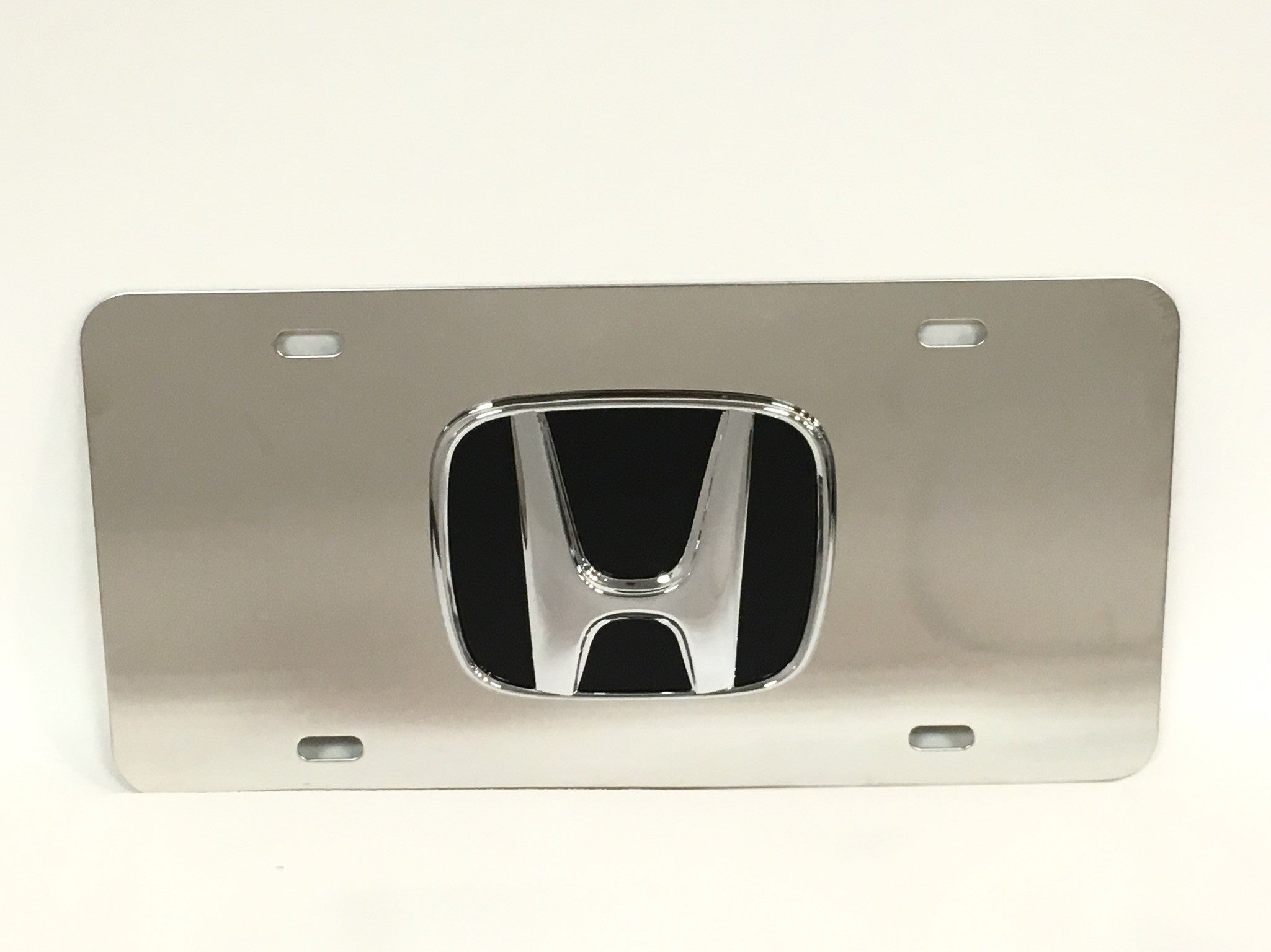 Honda Official Emblem Stainless Steel License Plate