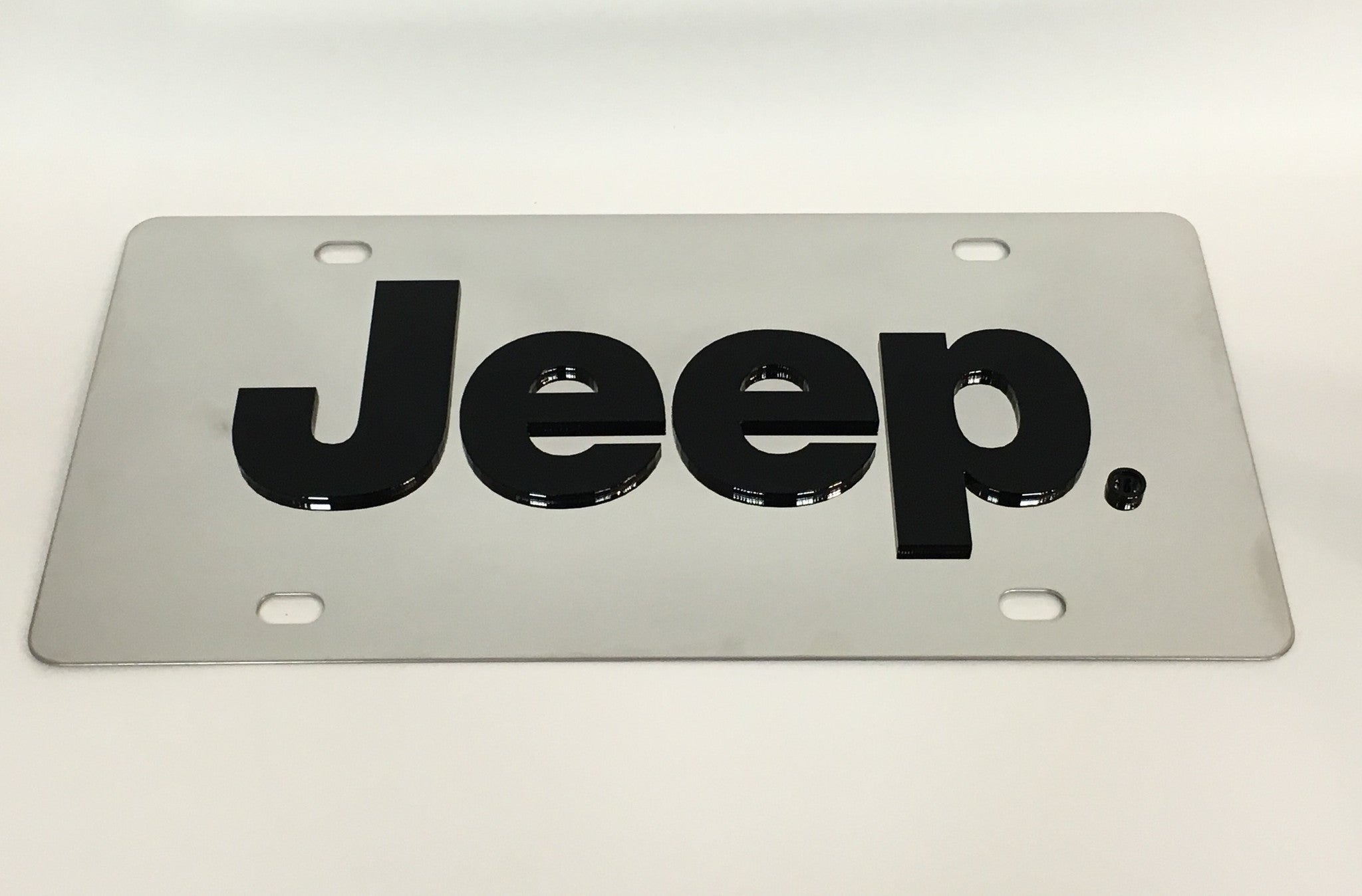 Jeep Logo Stainless Steel License Plate