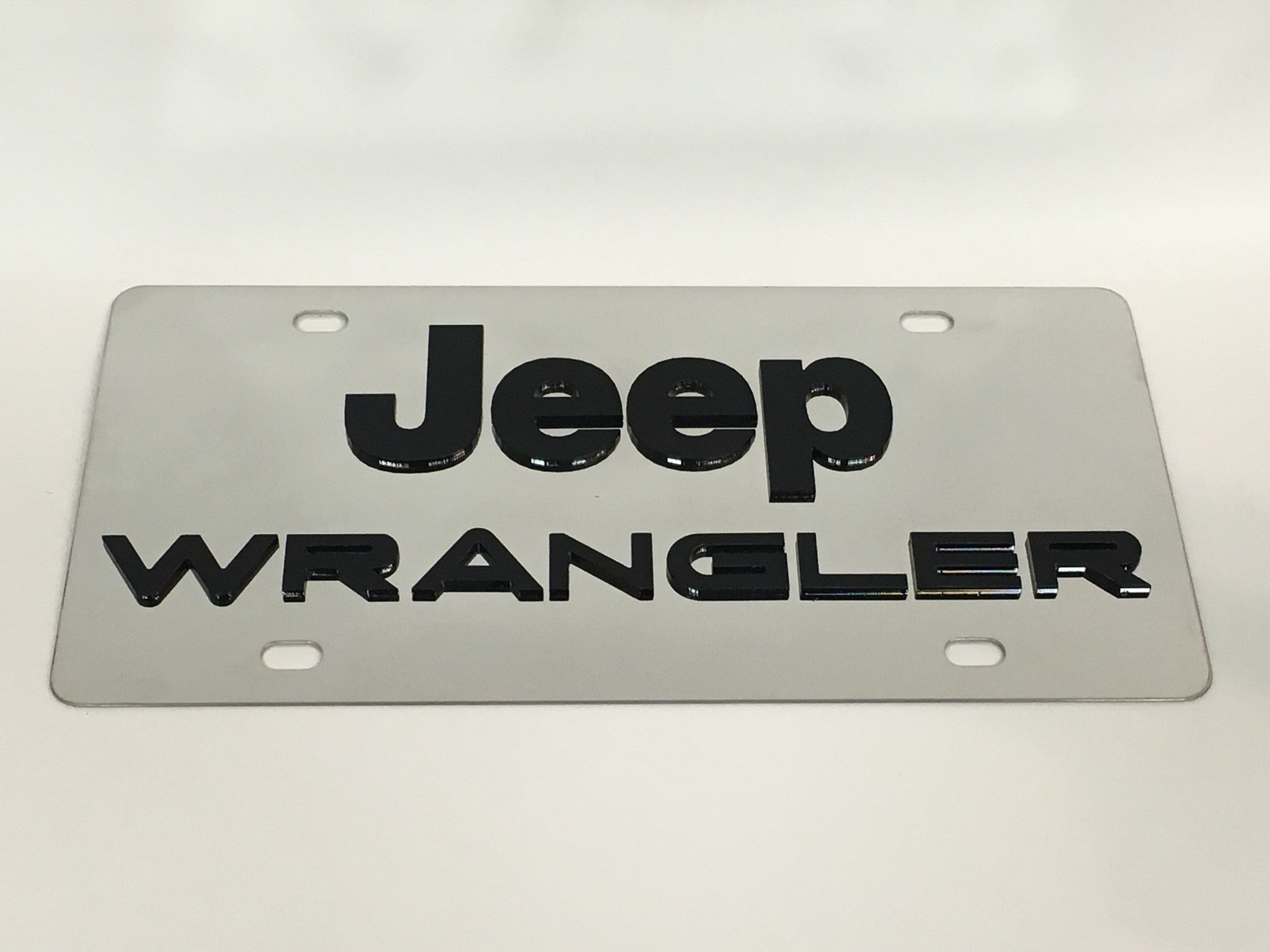 Jeep Wrangler Stainless Steel License Plate