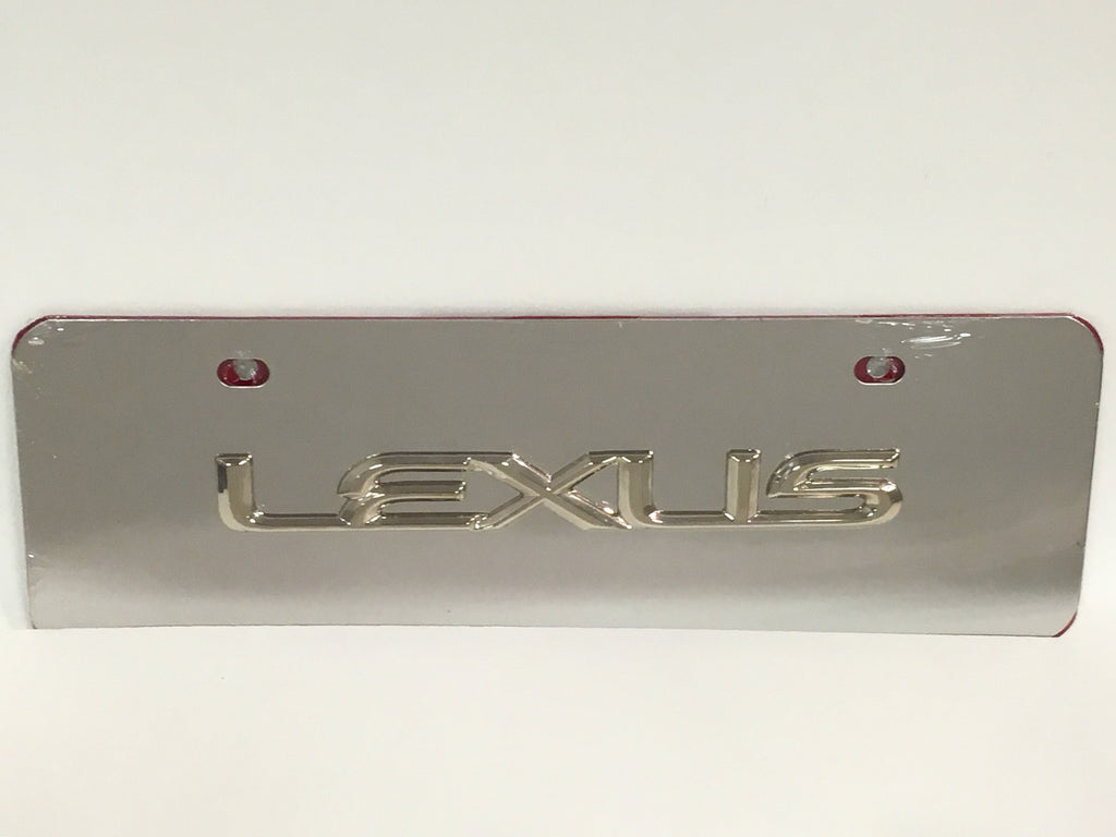 Lexus Official Emblem Stainless Steel Half-Sized License Plate