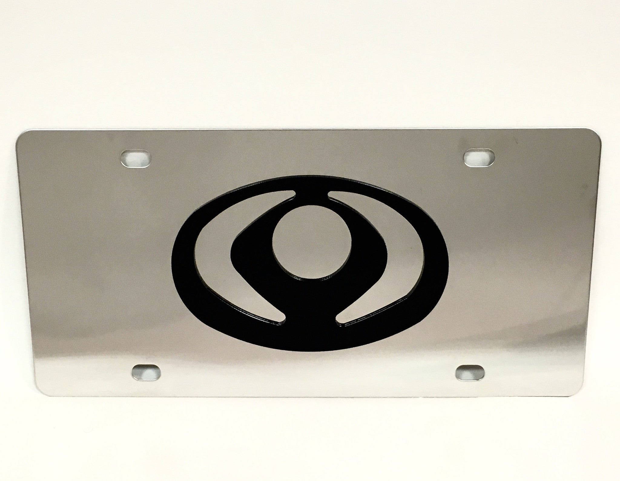 Mazda Old Logo Stainless Steel License Plate