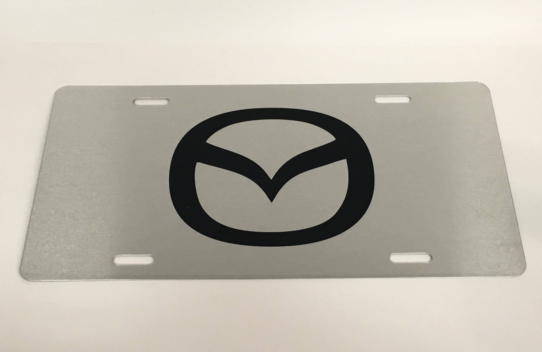 Mazda Logo Stainless Steel License Plate