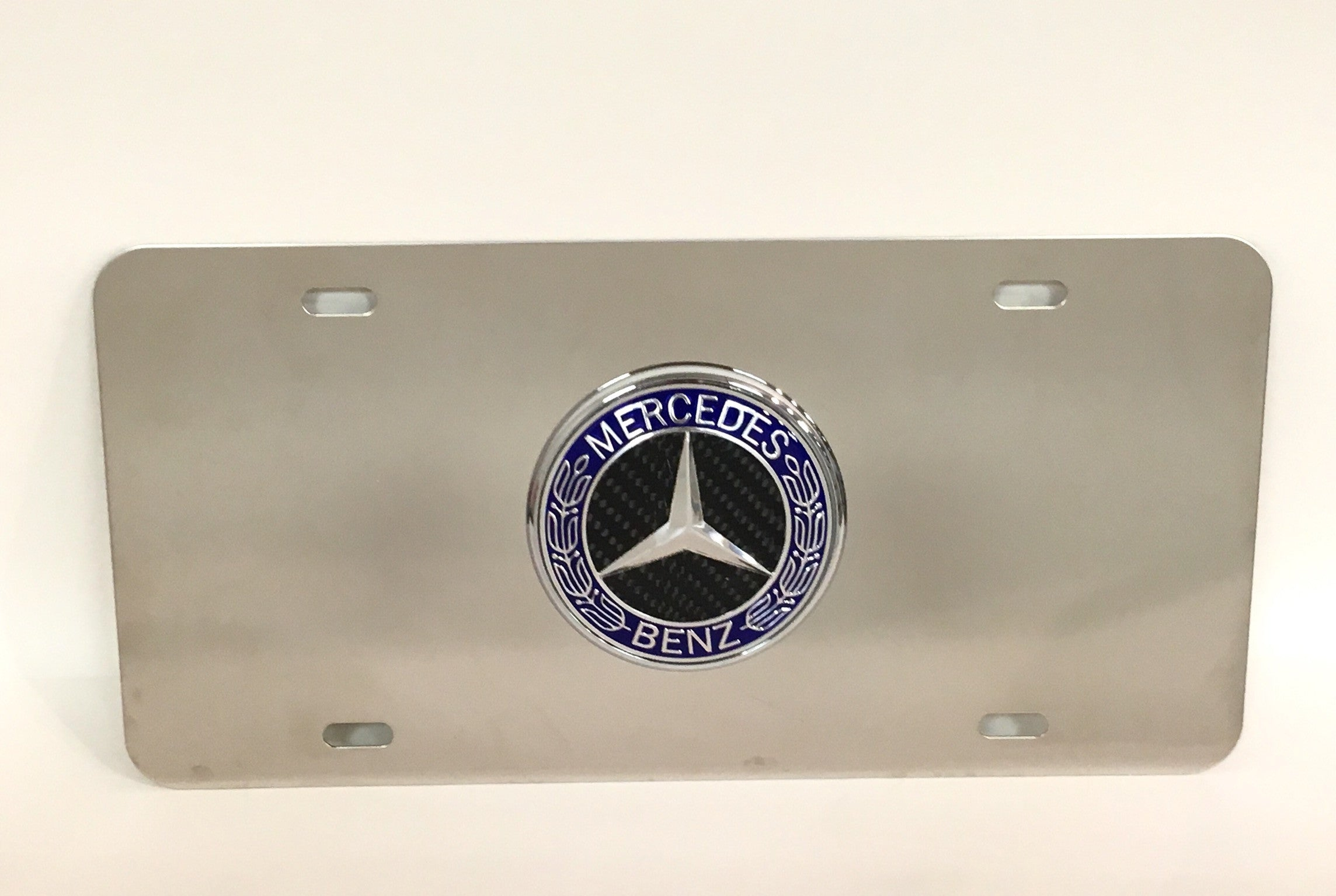 Mercedes Official Emblem Stainless Steel License Plate