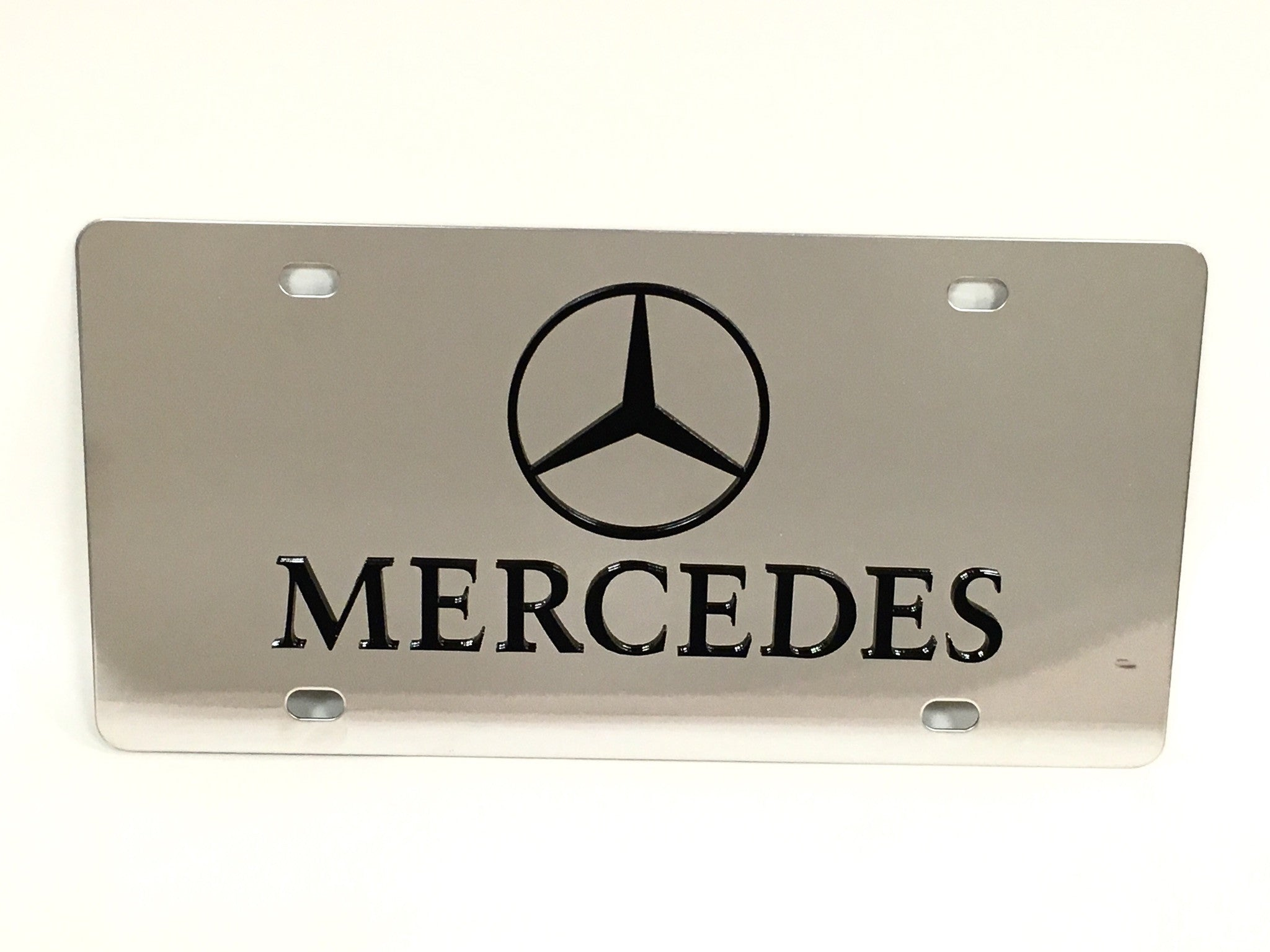 Mercedes Logo Stainless Steel License Plate