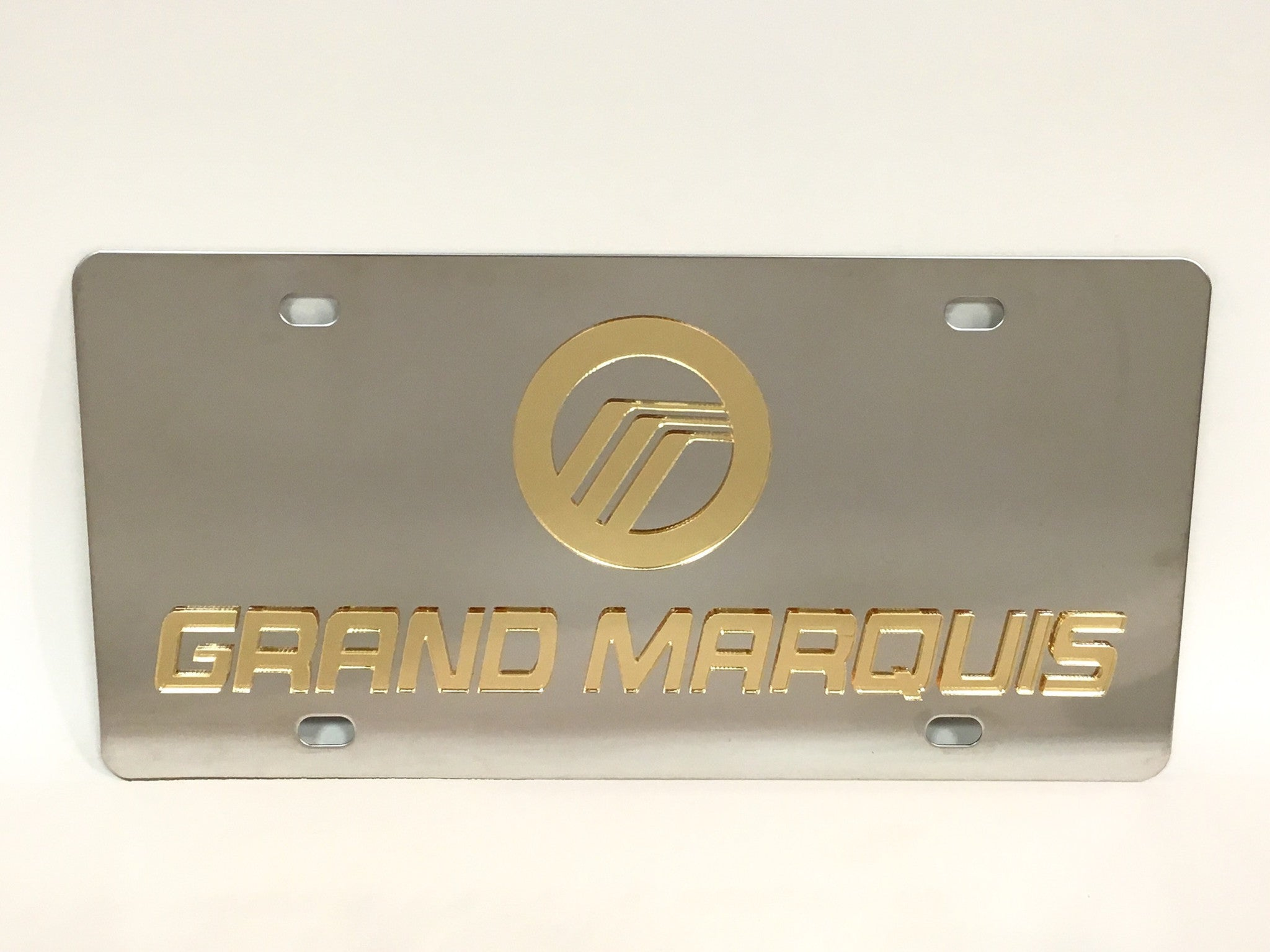 Mercury Grand Marquis Logo Stainless Steel License Plate