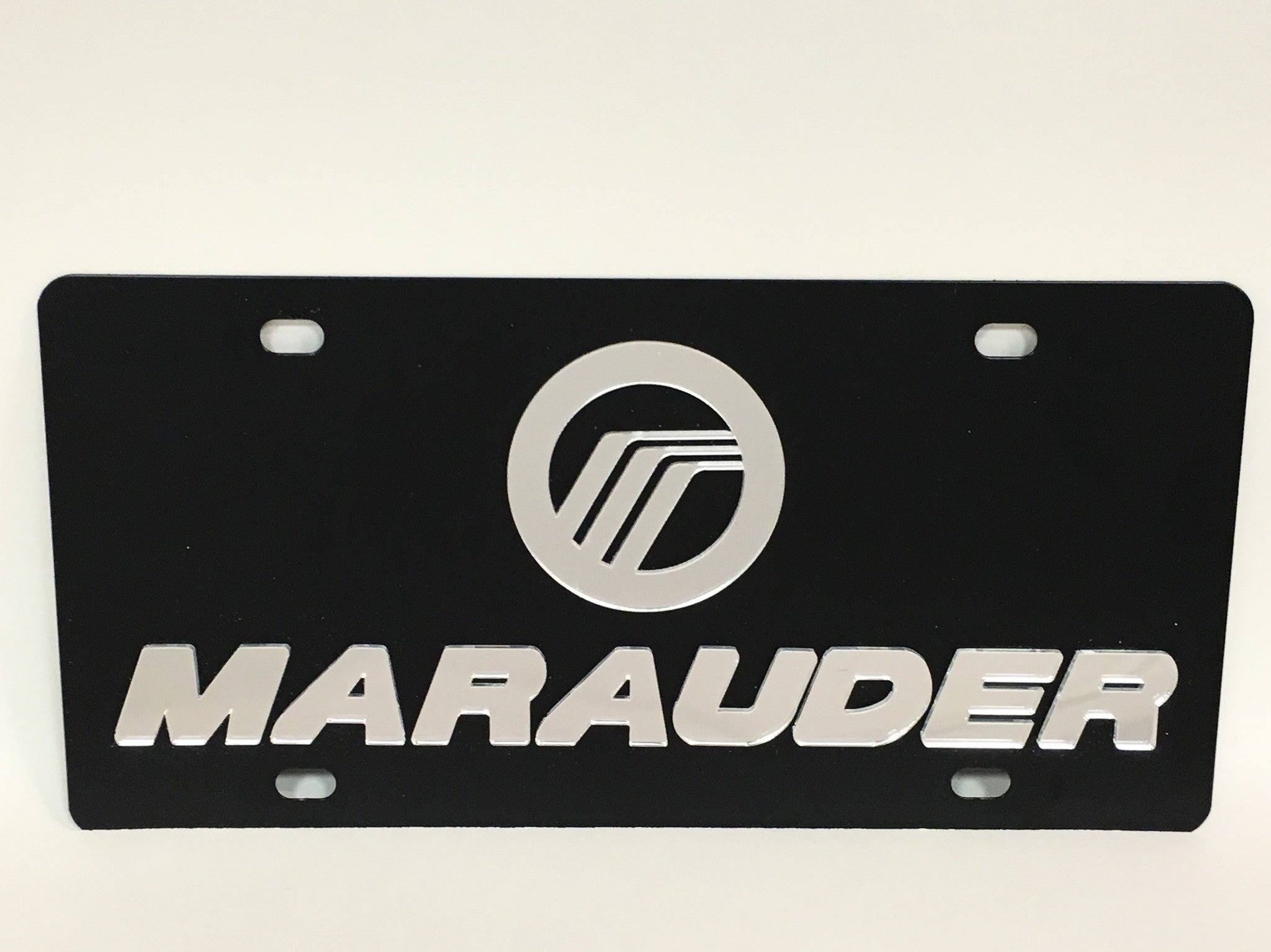Mercury Marauder Black Stainless Steel License Plate