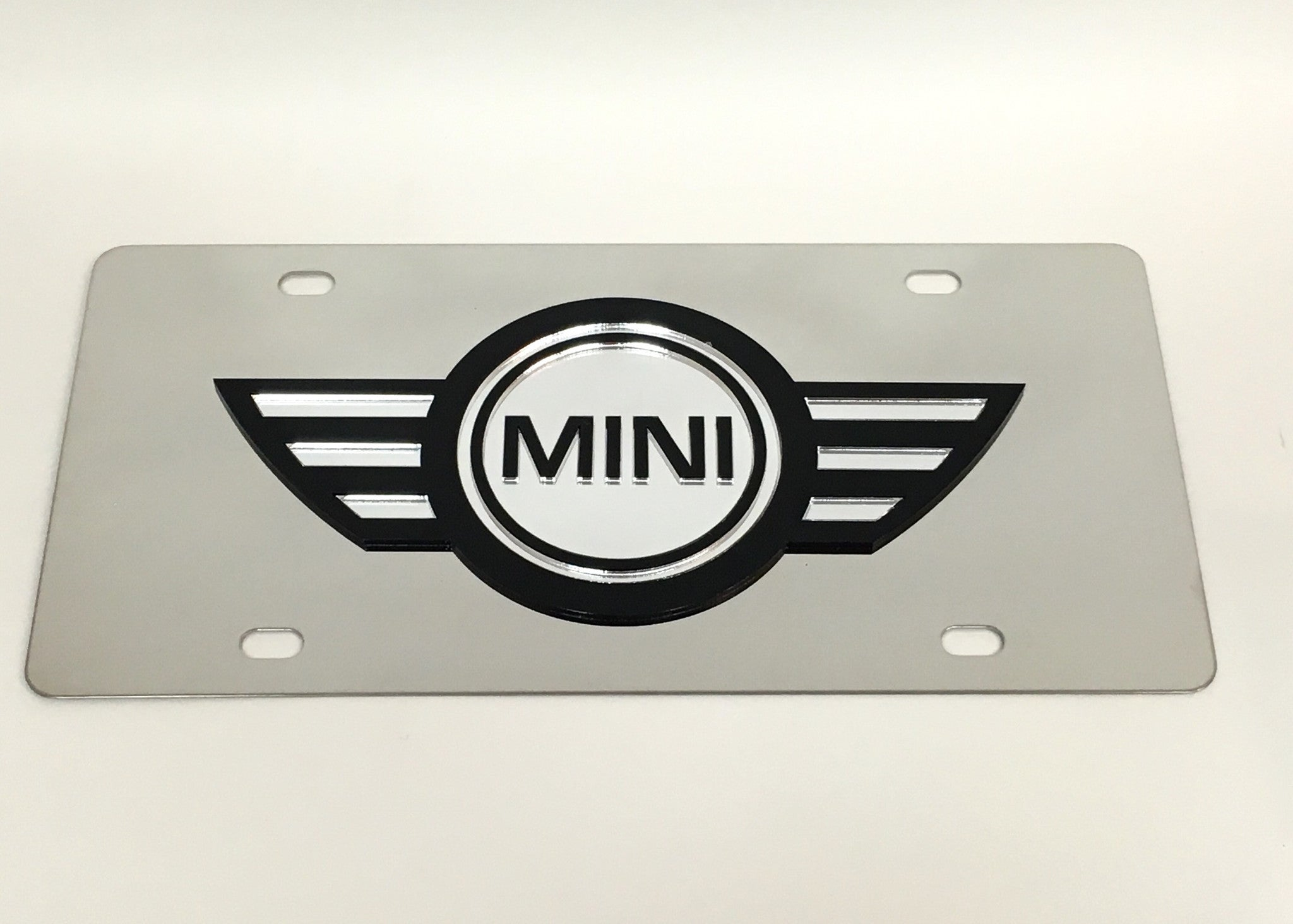Mini Logo Stainless Steel License Plate