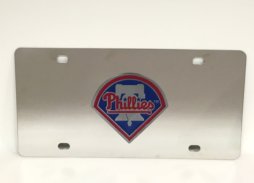 Philadelphia Phillies Bell Logo Stainless Steel License Plate