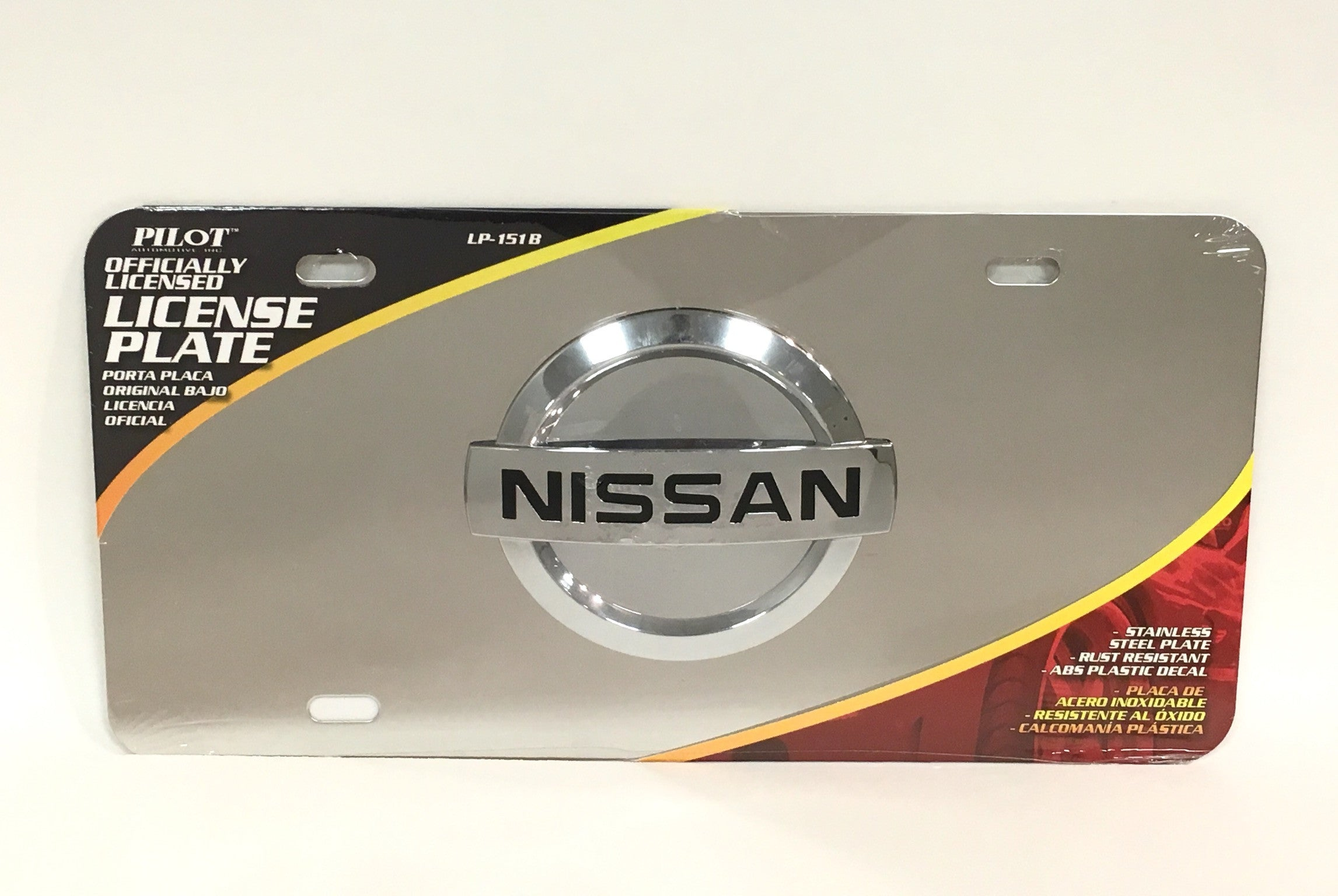 Nissan Official Emblem Stainless Steel License Plate