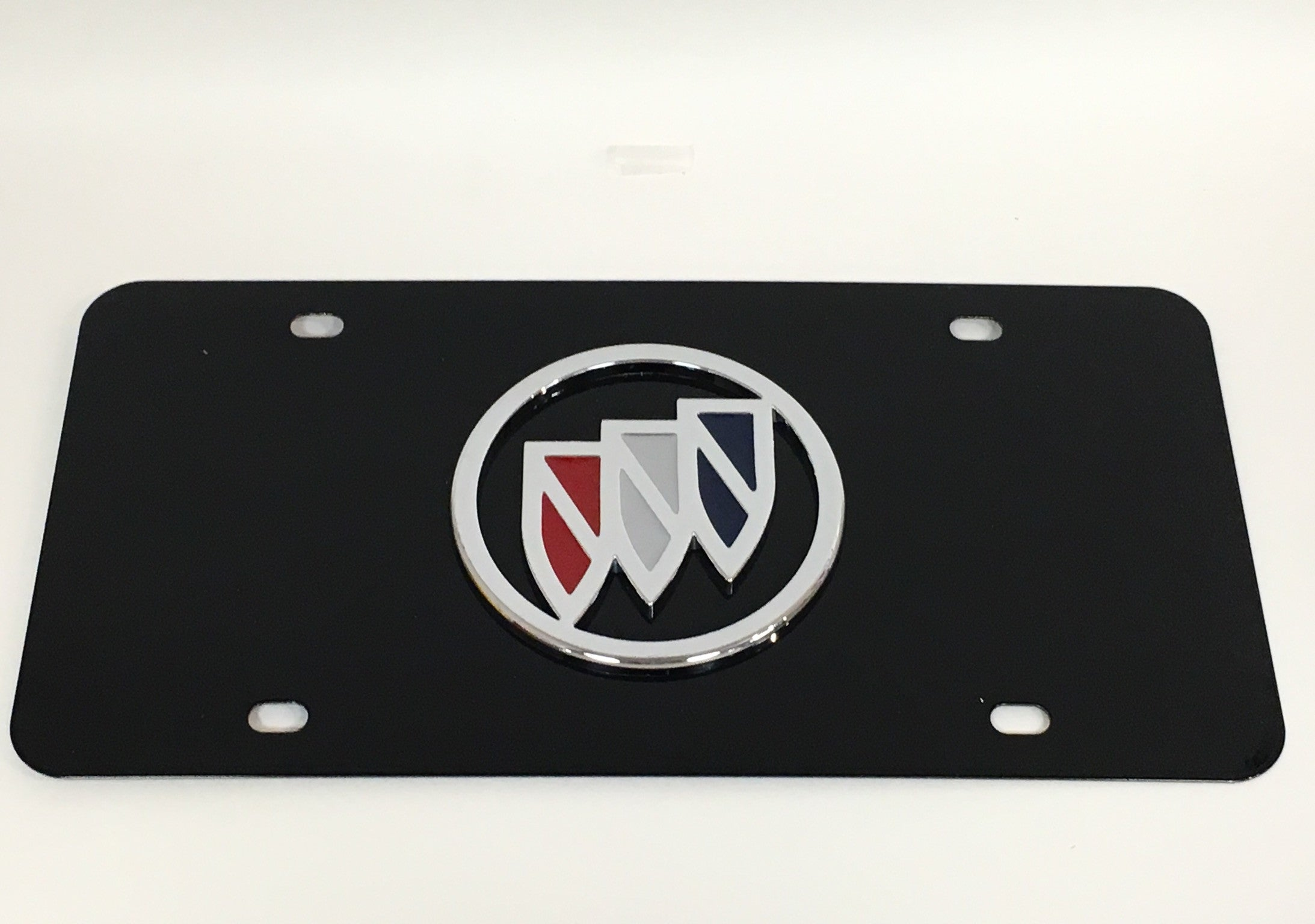 Buick Official Emblem Black Stainless Steel License Plate