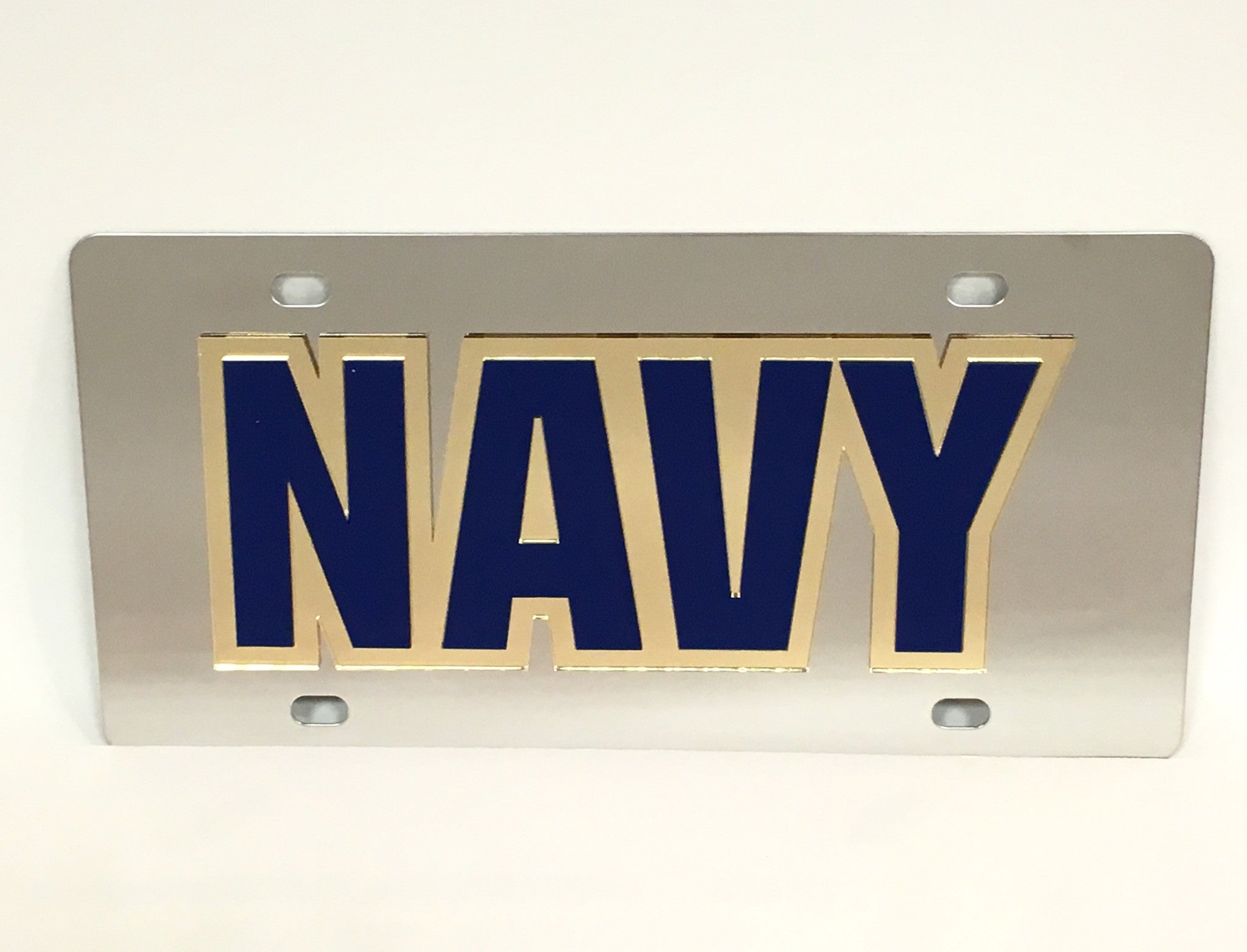 U.S. Navy Stainless Steel License Plate