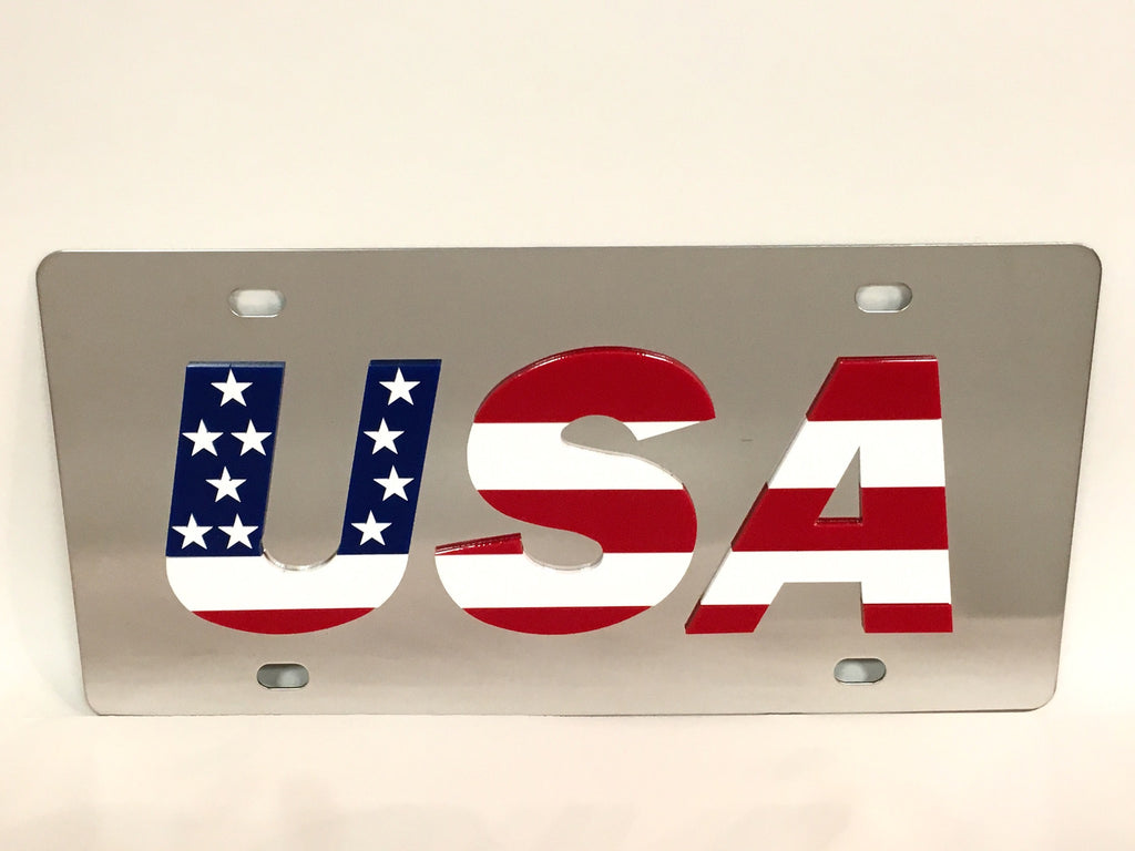 U.S.A Stainless Steel License Plate