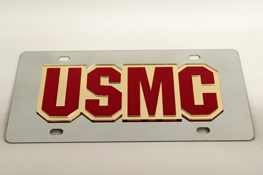 U.S. Marine Corps USMC Stainless Steel License Plate
