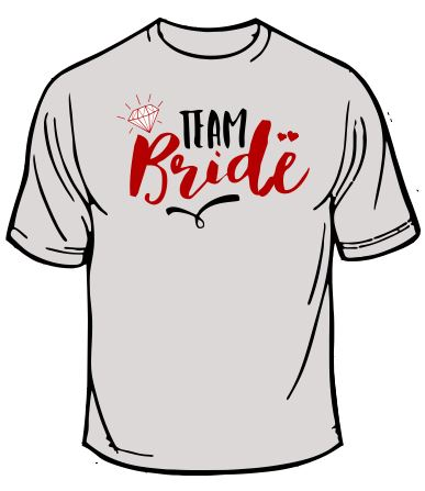 Team Bride Wedding T-Shirt
