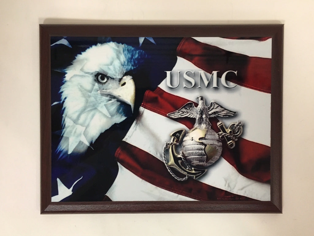 U.S. Marine Corps Eagle Plaque