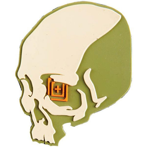 5.11 Skull Shot Patch, Sand, 3 x 2.25 - American Tactical Depot