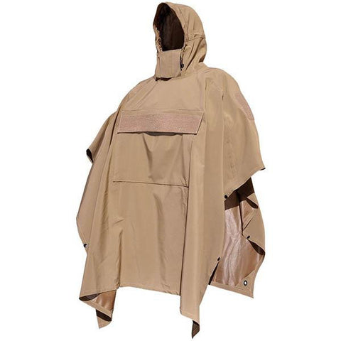 PonchoVilla w-SmartSkin Softshell, Coyote, One Size - American Tactical Depot