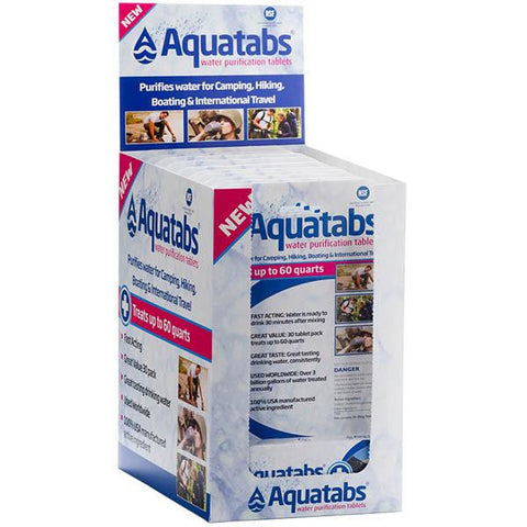 Aquatabs, Countertop Display, 12 x 30 pk - American Tactical Depot