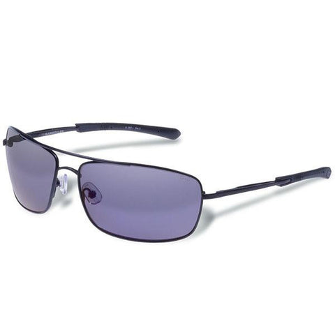 Barricade, Matte Black Frame, Smoke Polarized w-Blue Mirror - American Tactical Depot