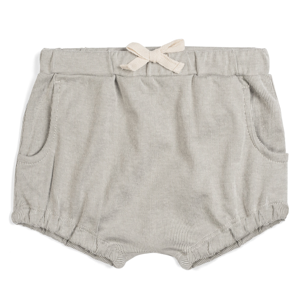 Milkbarn - Grey Pinstripe  - Organic Pocket Bloomer