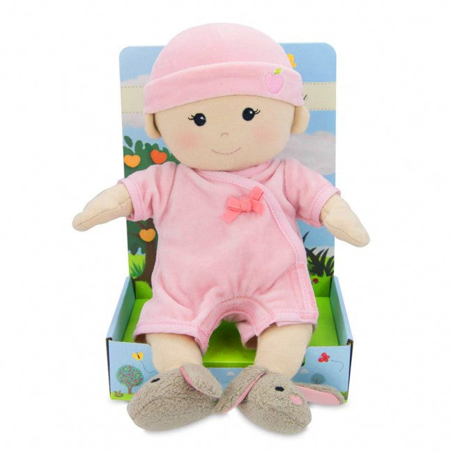 Apple Park - Baby Girl Doll (Organic) - in Pink