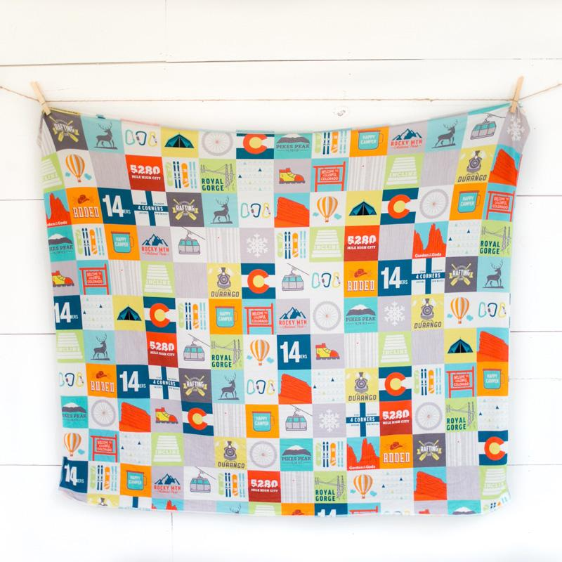 Abbey's House Swaddle Blanket - Colorado Patchwork