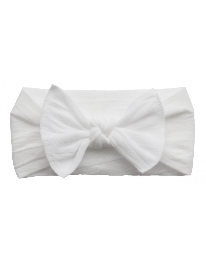 Baby Bling Bows - Classic Knot - White