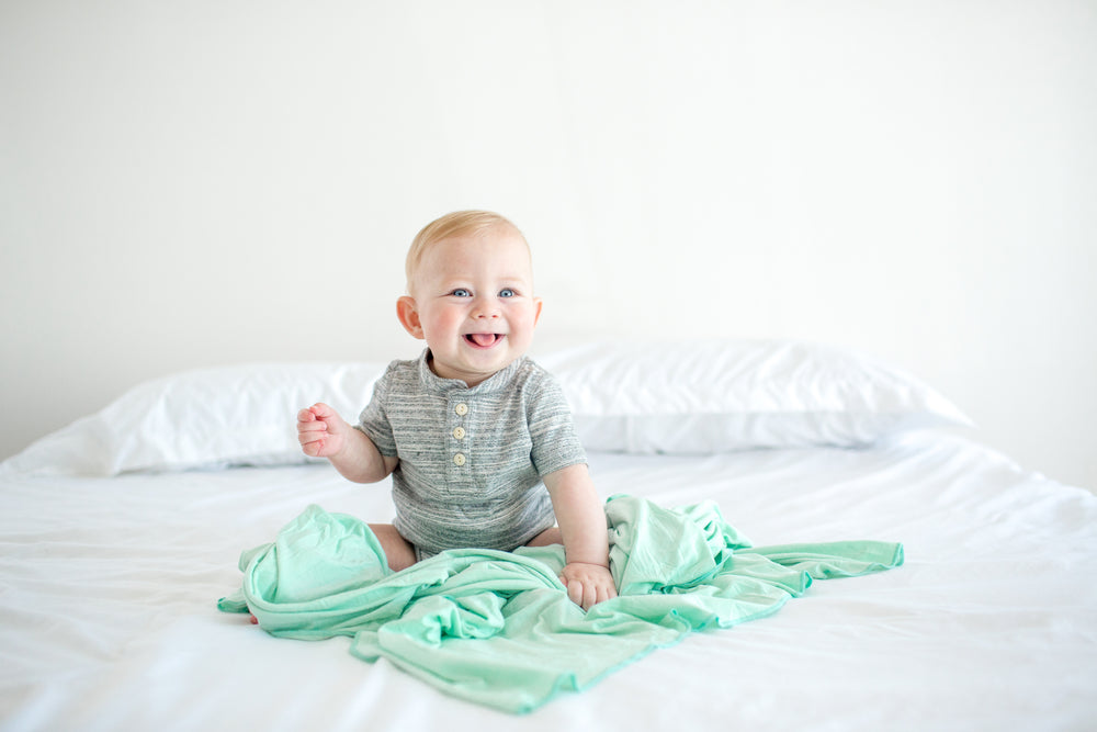 Copper Pearl Swaddle Blanket - Bay