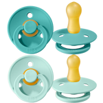 Bibs Pacifier - Mint and Turquoise - 2 Pack