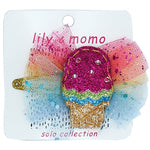 Lily and Momo Hair Clips - Rainbow Sherbet