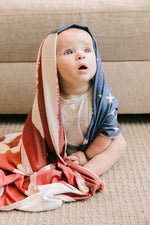 Copper Pearl Swaddle Blanket - Patriot