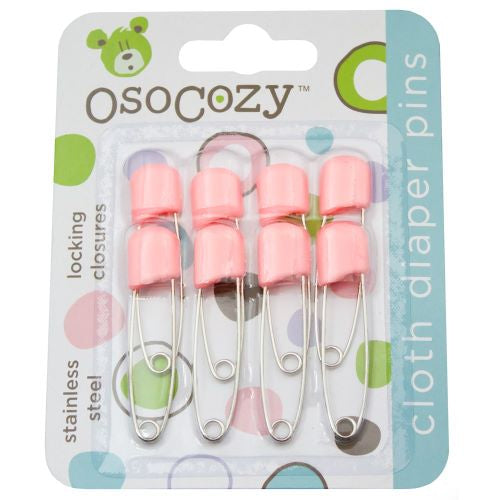 Osocozy - Plastic Headed Diaper Pin 8 pack -