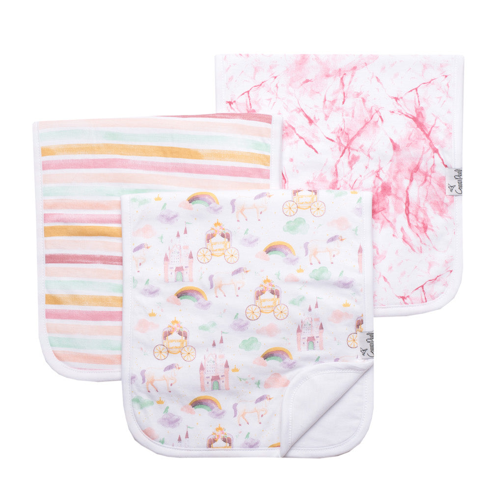 Copper Pearl Burp Cloth - 3 pack - Enchanted