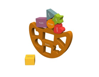 Begin Again Toys Balance Boat Shapes and Colors Playset