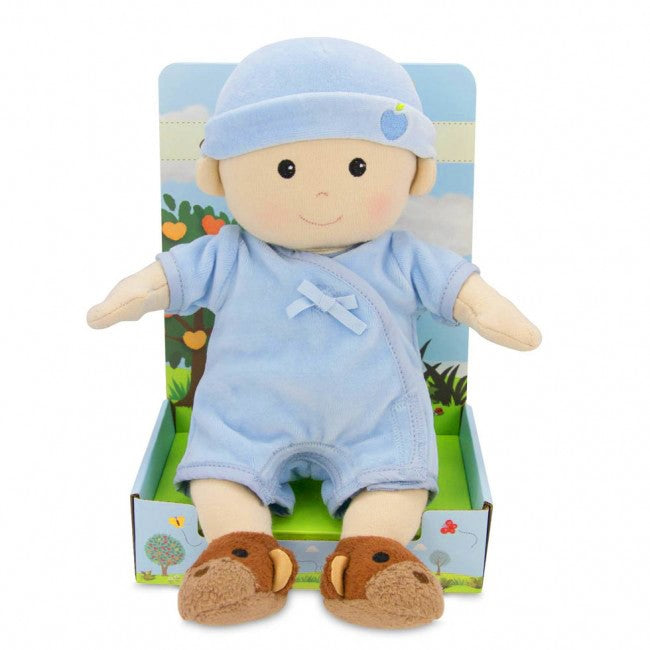Apple Park - Baby Boy Doll (Organic) - in Blue