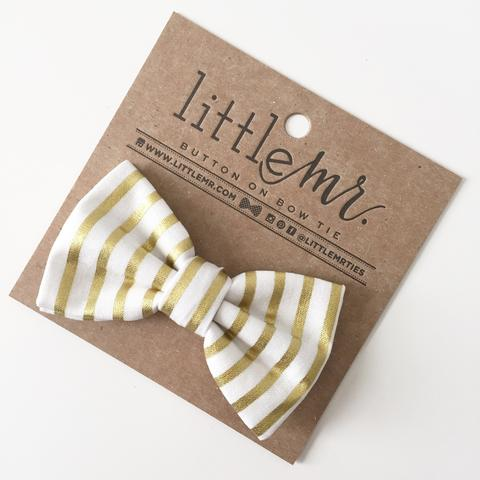 Little Mr. Bow Tie - Gold Stripe