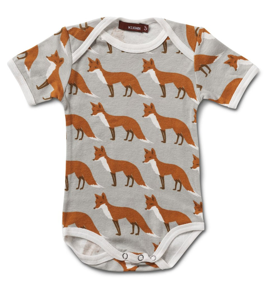 Milkbarn - Orange Fox - Organic Onesie