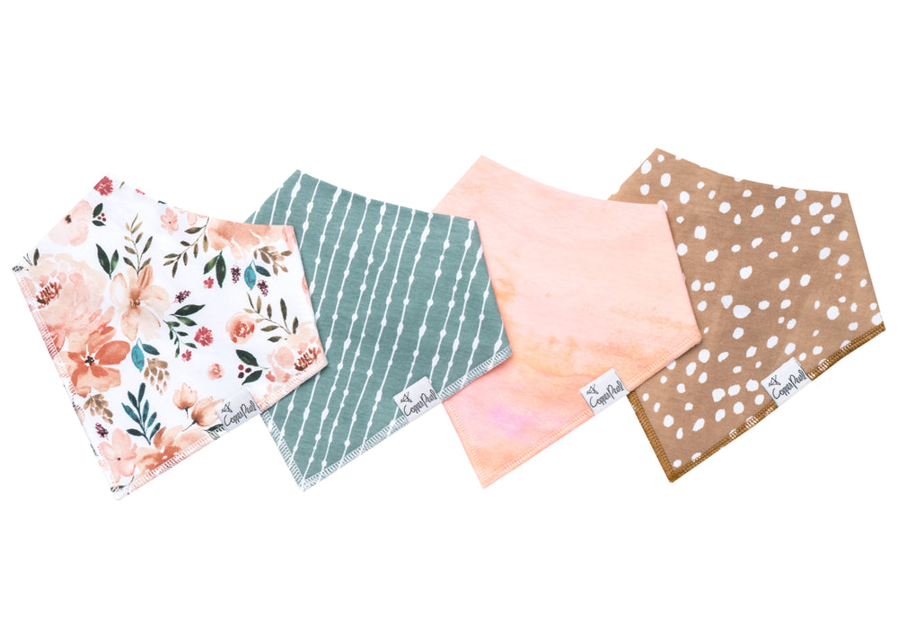 Copper Pearl Bandana Bib - 4 pack - Autumn