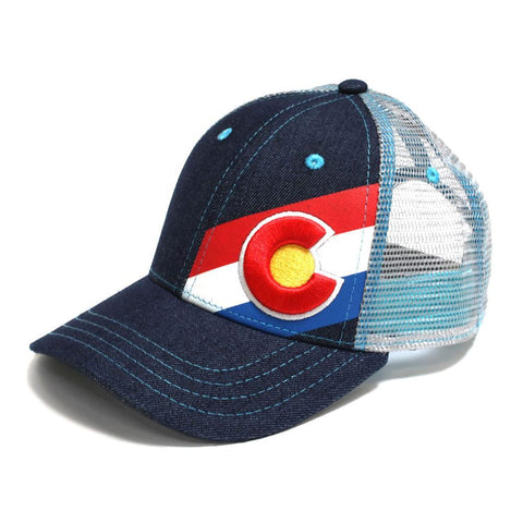 Colorado Flag Hat - Incline Trucker - Pink Fusion