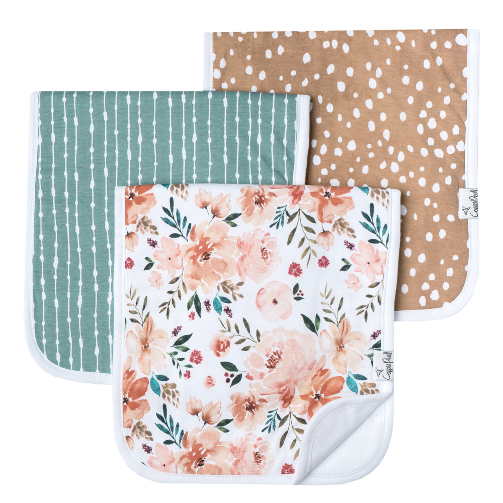 Copper Pearl Burp Cloth - 3 pack - Autumn
