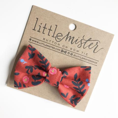 Little Mr. Bow Tie Orange Floral Small (0-2yrs)