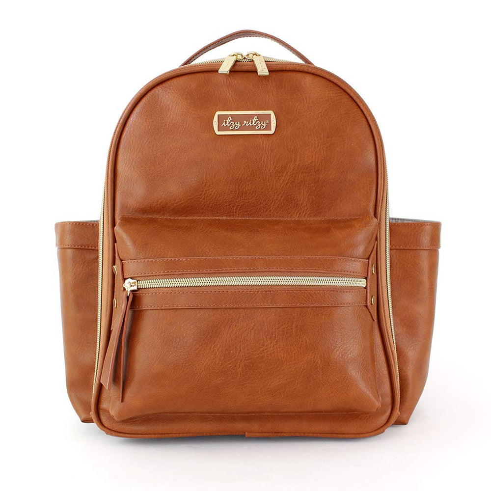Itzy Ritzy - Itzi Mini Diaper Bag Backpack - Cognac